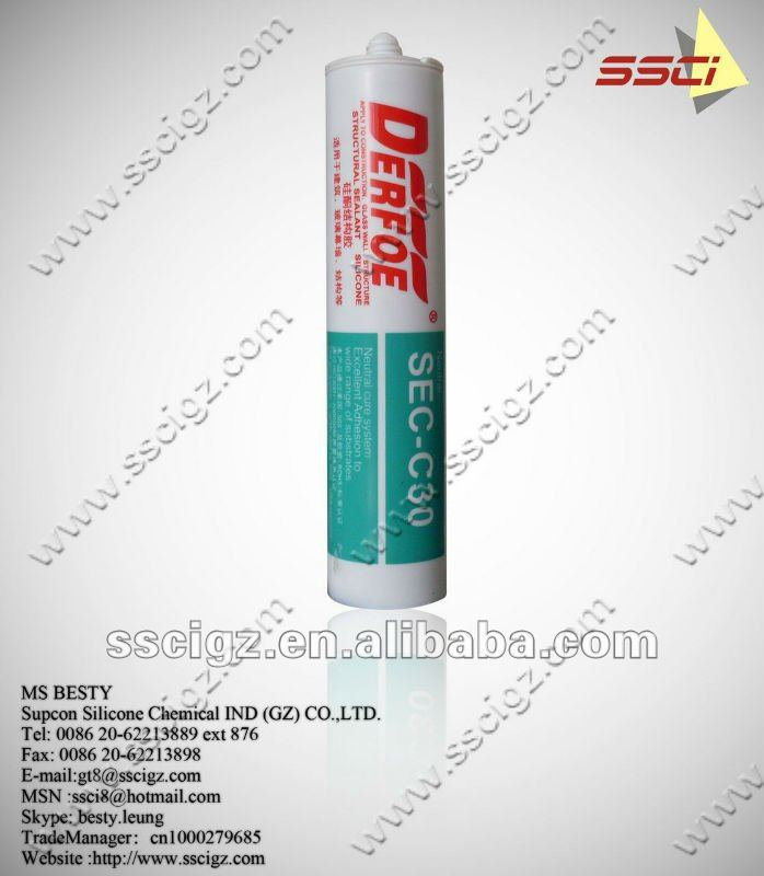roofing silicone sealant 100% weatherproof, netural cure,factory supply