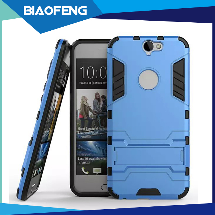 Most selling product in alibaba hard plastic cell phone case with display stand for htc one a9 cover case