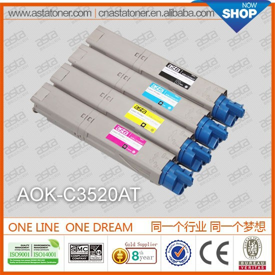 c3520a toner cartridge for oki white toner for oki printer C3520MFP/C3530MFP/MC350/MC360