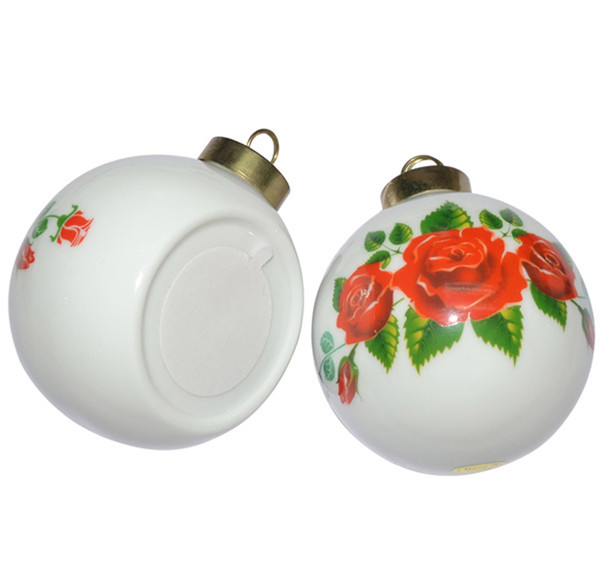100 Wholesale Clear Sublimation Ceramic Christmas Ball