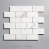 2 x 4 Brick Calacatta Marble Mosaic Tile Polished Decorative Wall Tile