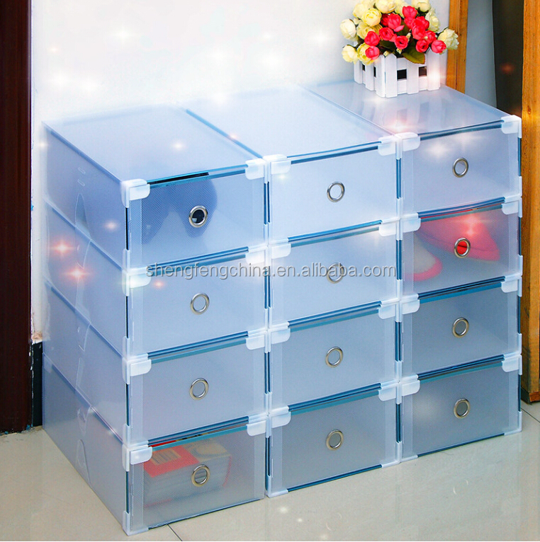 2017 customized size color pp shoe box