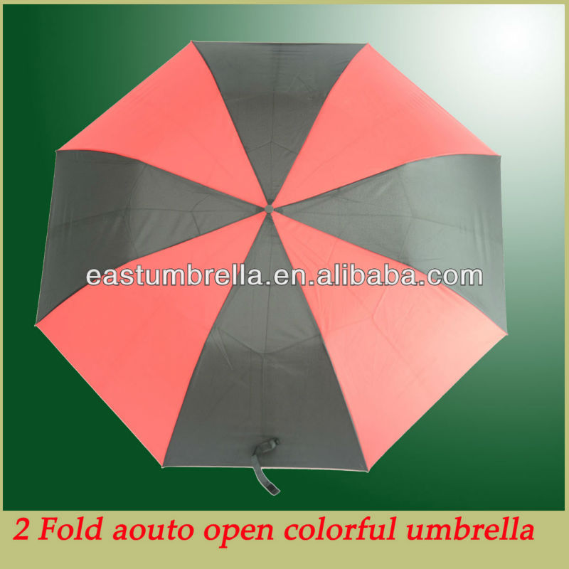 Hot sale auto open 27 inch 2 fold umbrella promotional