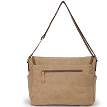 Khaki 16oz canvas shoulder bag for ipad mini