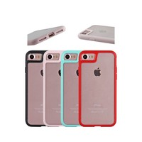 for iphone7 case tpu colorful bumper with clear back,for iphone 7 tpu case hot