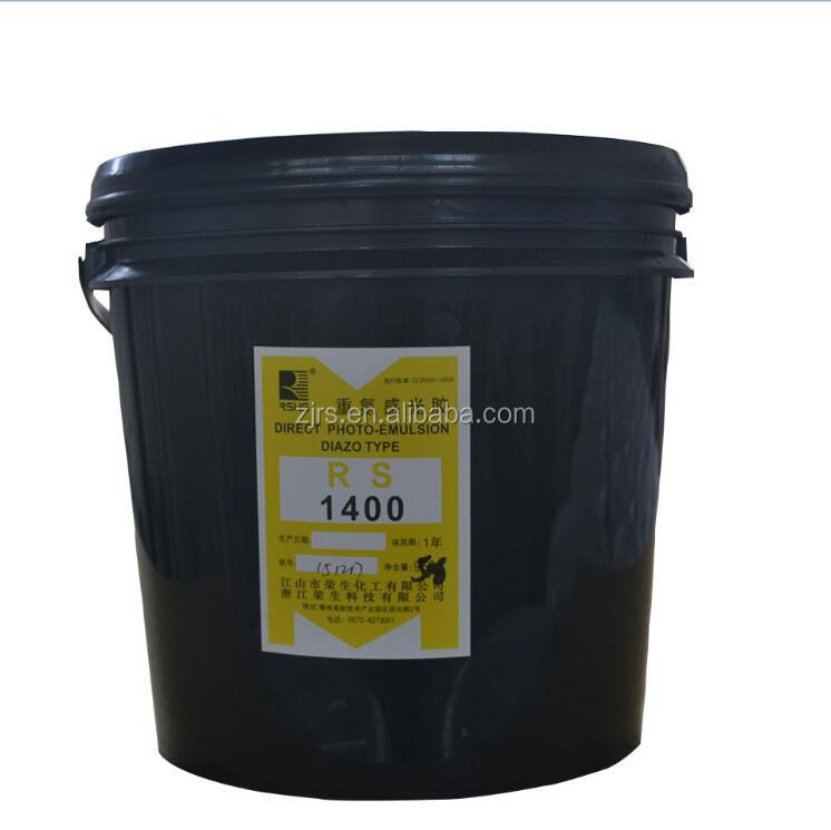 RS1400 Water resistant photo emulsion for flat screens printing plate