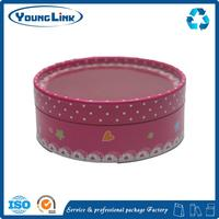 High Quality Cosmetic Aluminium Gift Paper Cylinder Box/Round Box/Tube Box with PVC window clamshell packaging