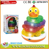 Quality Product Baby Stacking Game Chicken Jenga Set With Music And Light