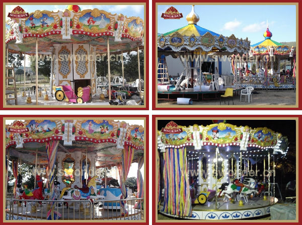Most latest merry go round carousel horse collection amusement park rides for sale