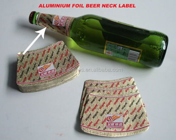 High quality custom aluminum foil beer label