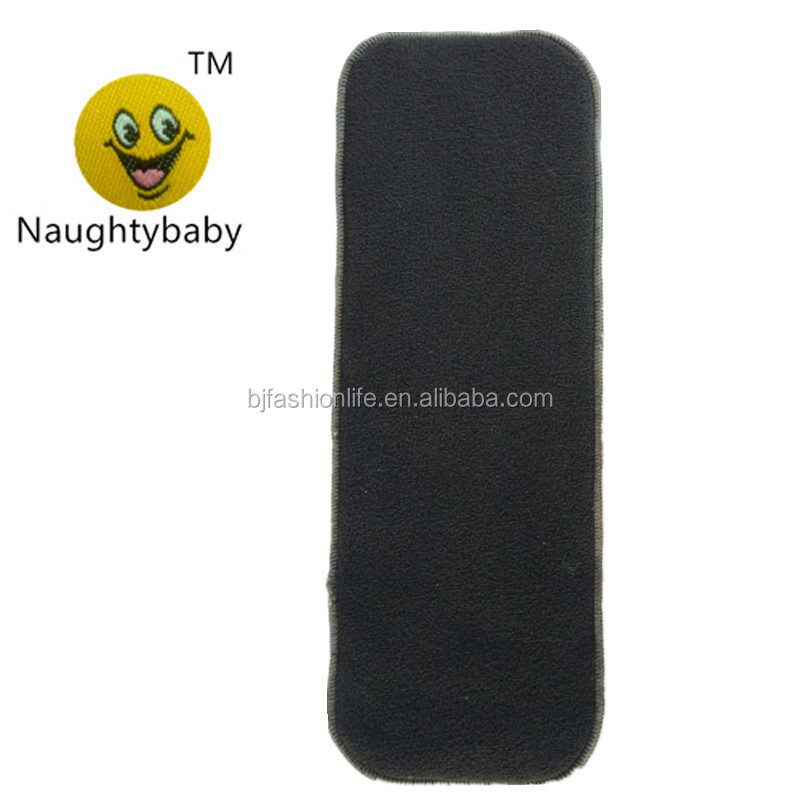 Naughtybaby Cheap washable cloth diaper insert bamboo charcoal diaper insert organic bamboo diaper insert