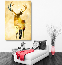 New product elk high definition printing canvas art deco decoration painting