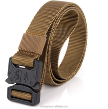"Tactical Belt Military Style Heavy Duty Belt 1000D Nylon Waist Sports Belts with Metal Buckle 1.0"" Width"