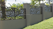 USA CNC Cut modern metal fence used for villa garden wall decoration