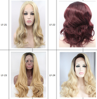 most popular tangle free synthetic hair lace front wig