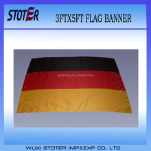 cheap polyester Germany nation flag , black red gold country flag