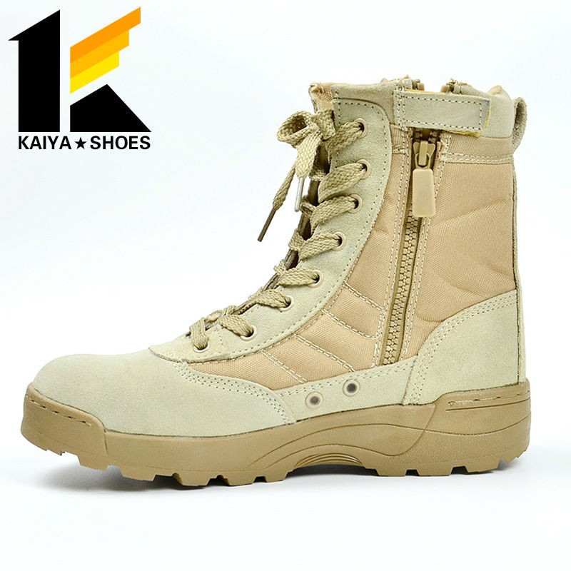 suede leather Men Ankle Boots for tactical