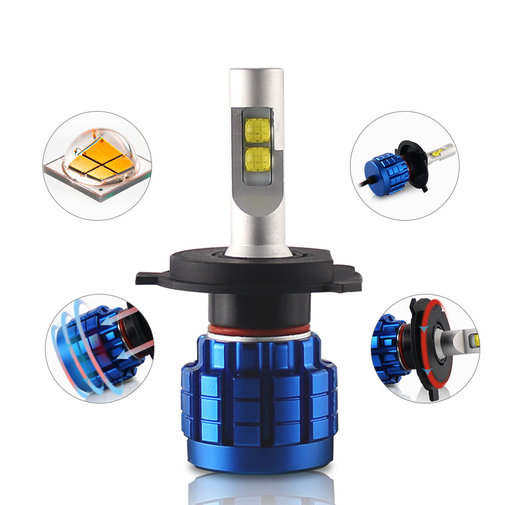 2019 New Design 360 Light <strong>Q10</strong> Led Headlight Bulb 9005 9006 H13 Super Bright H11 Auto H4 H7 Car Led Headlight H7