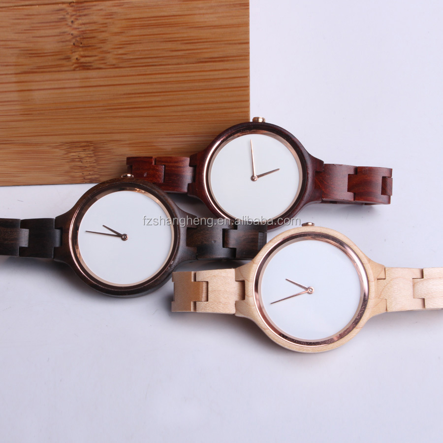 Hot wholesale high quality fashion wooden watches vogue quartz watch