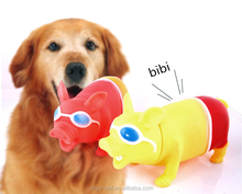 New Products Pig Shape Pet Vinyl Squeaky Toys Vinyl Pig For Dogs