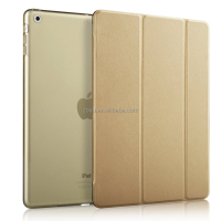 Magnetic Flip Stand Wake Up/Sleep Smart Cover Leather Case for ipad air case cover and cases gold