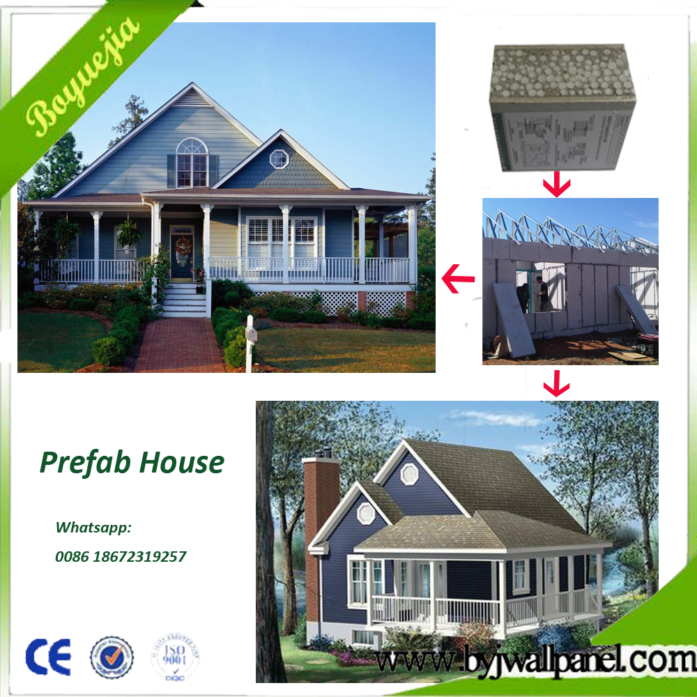 70 Years Economical EPS Sandwich Panel Steel Frame Prefabricated House