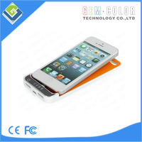 2200mAh Portable Power Bank Charger Backup External Battery Cover Case For iPhone 5 5G 5S Support IOS7