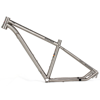 Newest model height size 15.5'' 16.5'' MTB bike titanium alloy frame 26er with 41*52mm taper headtube