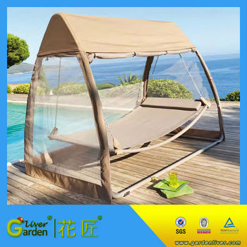 Hammock Swing Bed With Mosquito Net Sleeping Free Standing