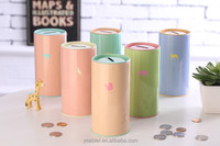 Cylinder fruit seed tin can wedding tin gift box tin case saving box