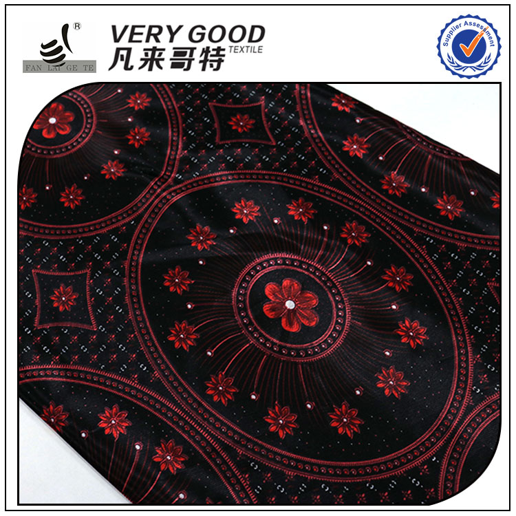High Quality New Pattern woven plain printed satin wax fabric print in vietnam