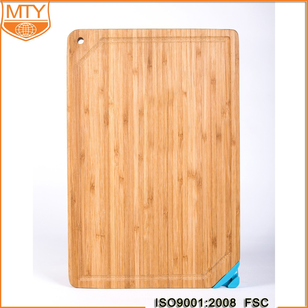 TY-B0052 Premium Organic Bamboo Extra Large Cutting Board and Serving Tray with Drip Groove