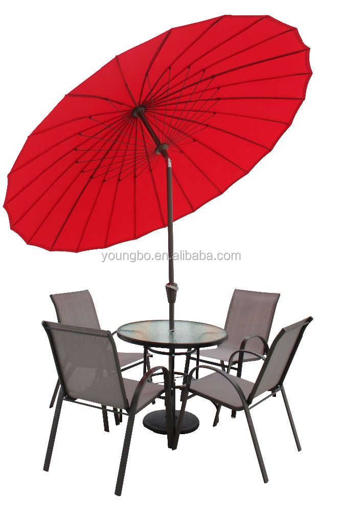 shanghai umbrella with 24pcs glass fiber rib