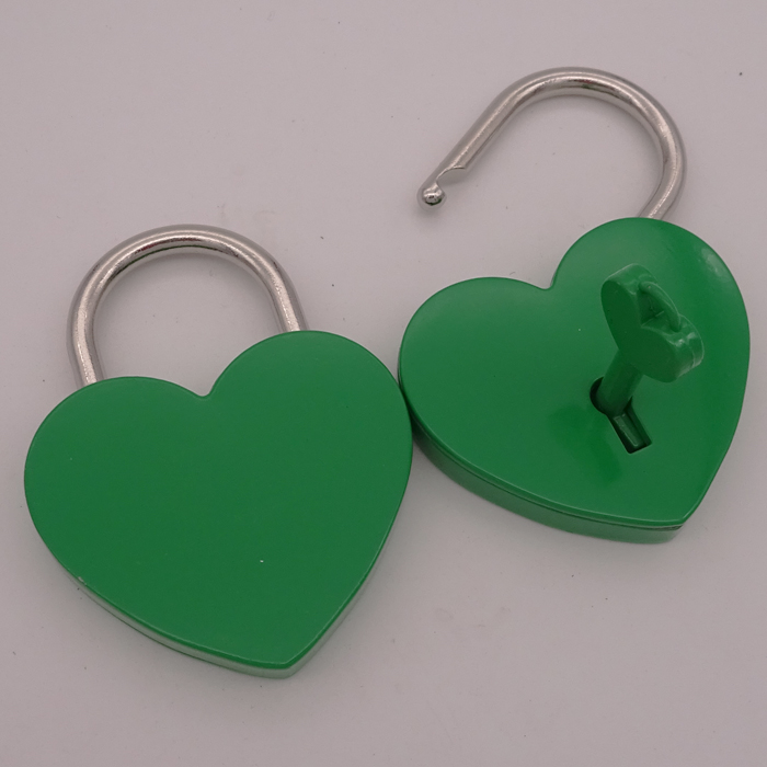 Hot Creative Birthday Gift Heart Shape Padlock W/Key For Suitcase Crafts
