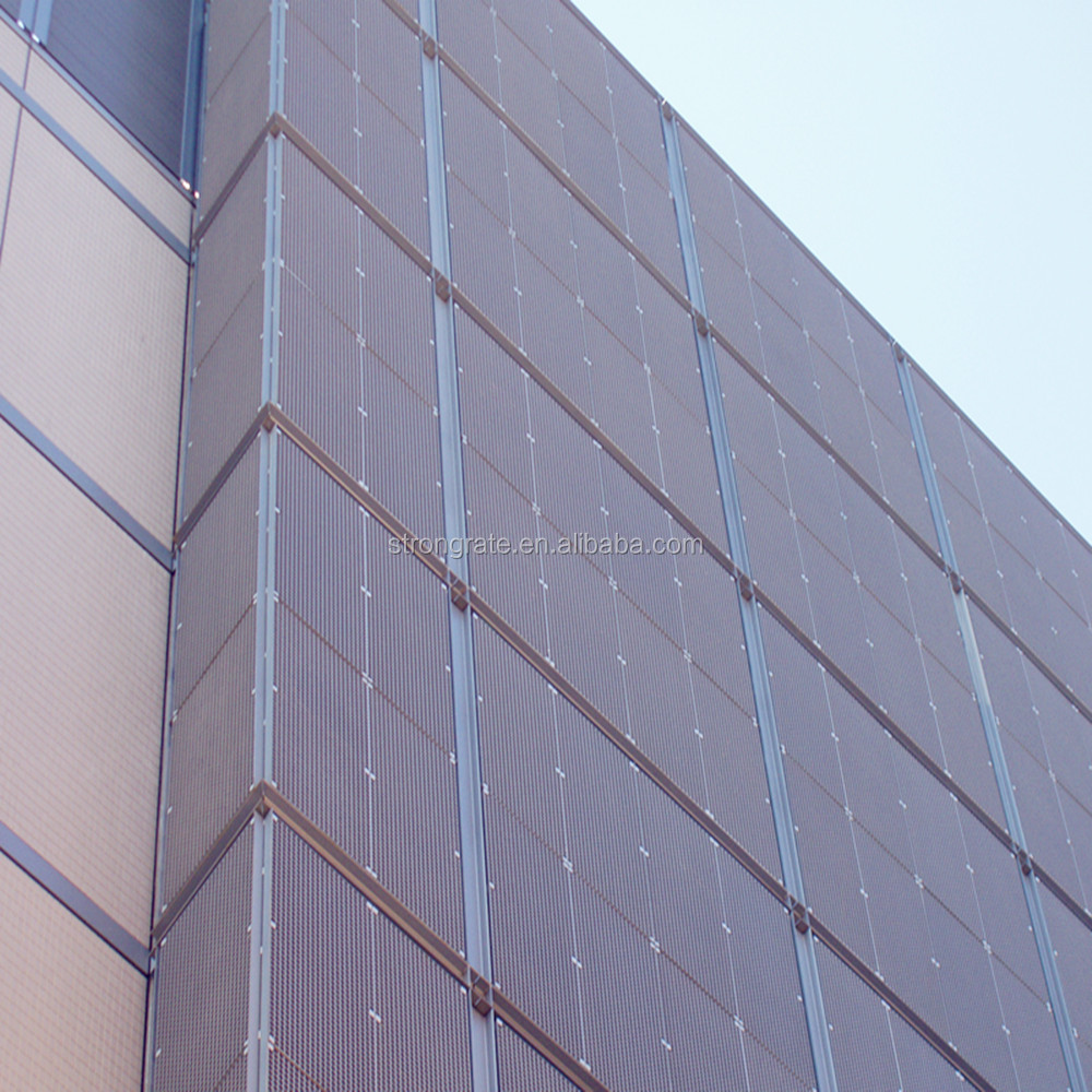 Factory supply FRP grating wall with suquare mesh