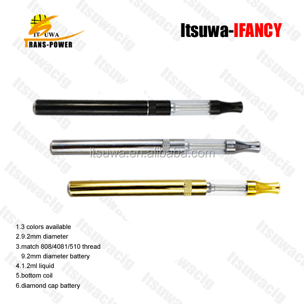 slim 9.2mm diameter refillable IFANCY e cigarette atomizer dry herb atomizer 510