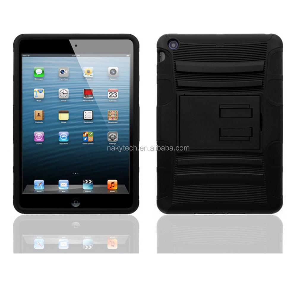 Wholesales shockproof tablet case for iPad air 2 /for iPad 6, for iPad kickstand armor case , for iPad case silicone