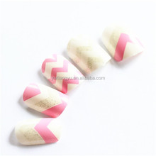 Hot Selling Europe Glitter Wave Designs Thin Artificial False Nail Tips