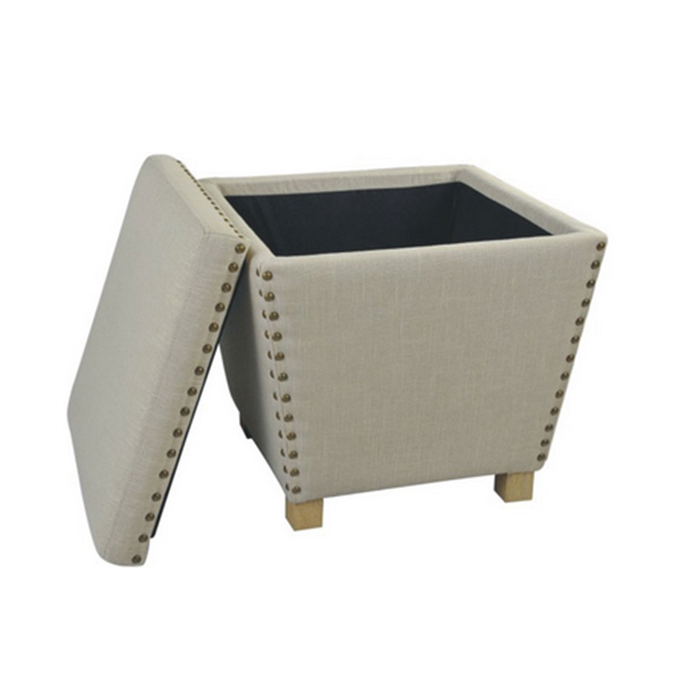 New Design China Factory High Quality Home Furniture Storage Ottoman
