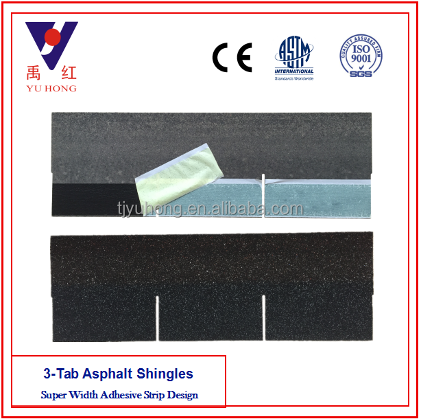 Agate Black 3 -Tab Asphalt Roofing Shingle