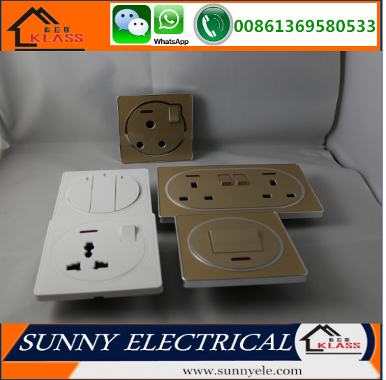 UK electric wall socket TV switch and socket 6 cores CE certification
