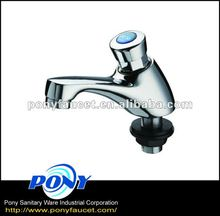 High Quality Taiwan made classic simple water bathroom kitchen automatic faucet Self Closing Tap