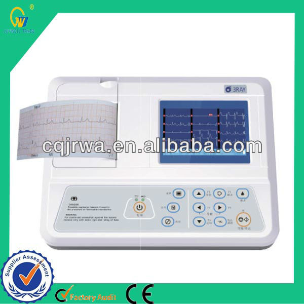 Re-usable Medical Fun Alpha Numeric Key Board ECG Machine with Thermal Printing system For physical exams
