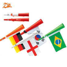 wholesale plastic cheering football fan horn with national flag