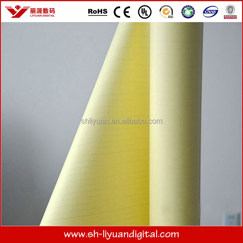 anti scratch pvc cold laminating film for photo with yellow liner
