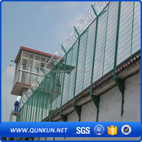qunkun Anti theft anti-climb high security 358 welded wire mesh fence for sale