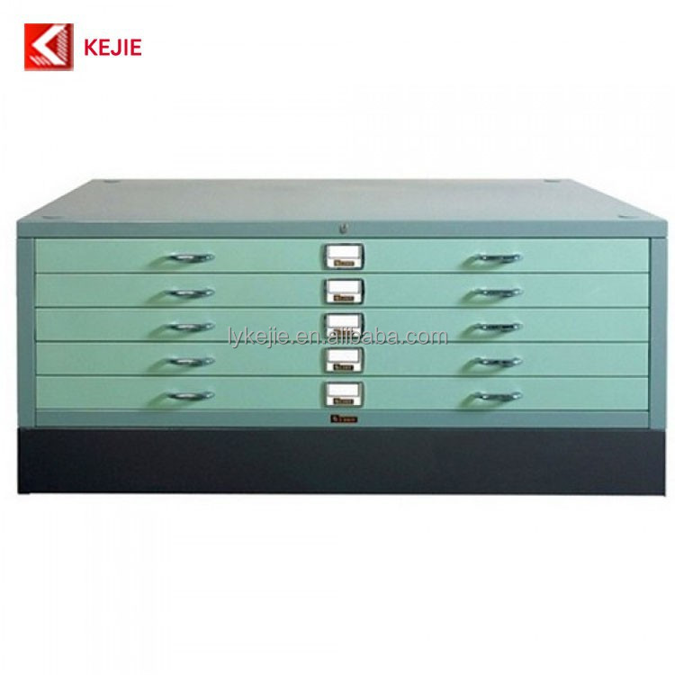 Bule Color 5 Drawer Blueprint File Cabinet Steel Map Storage Chest Metal Storage Drawer Chest