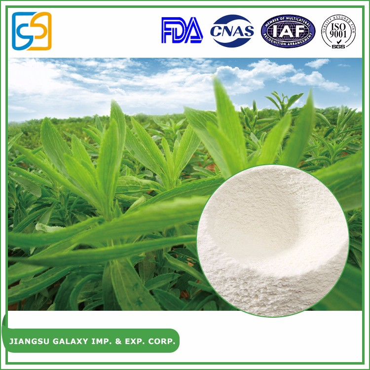 GMP factory China plant extract powder rebaudioside A pure stevia 95%