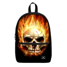Small order 10 pcs skull printed 17 inch high school student bag with laptop compartment