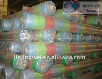 PE Tarpaulin Striped red, blue & green color UV treatment